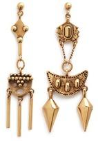 Chloé 'Layton' asymmetric pendant drop earrings