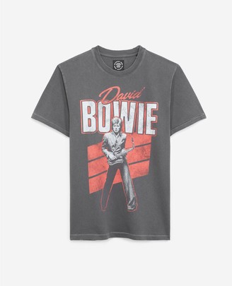 The Kooples Faded black T-shirt with David Bowie print