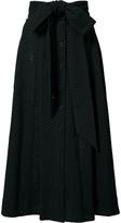 Lisa Marie Fernandez Eyelet Belted Midi Skirt