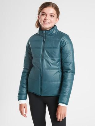 Athleta Girl Reversible Warm + Fuzzy Jacket