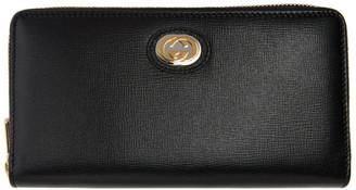 Gucci Black GG Marina Wallet