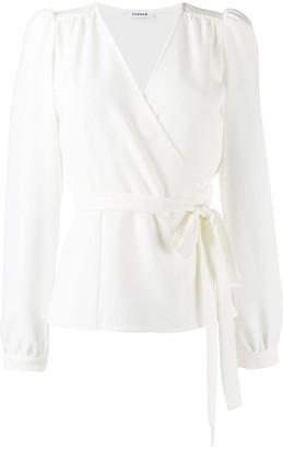 P.A.R.O.S.H. tie waist blouse