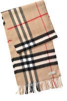 Burberry Men's Heritage Check Cashmere Scarf