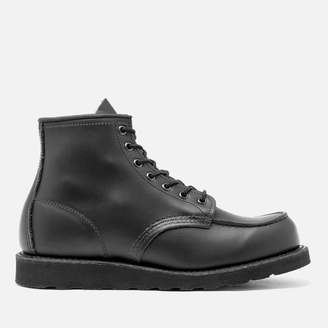 Red Wing Shoes Men's 6 Inch Moc Toe Leather Lace Up Boots - Black Chrome - UK 11/US 12