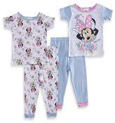 Disney Minnie 4-Piece PJs in Blue