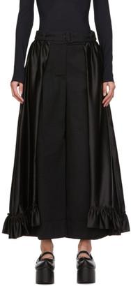 Simone Rocha Black Frill Skirt Trousers