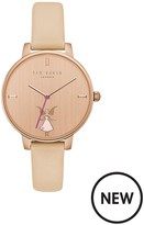Ted Baker Fairy Rose Gold Case Nude Leather Strap Ladies Watch