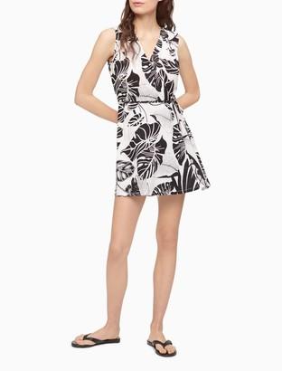 Calvin Klein Printed Sleeveless Romper