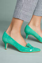 Anthropologie Ruffled Kitten Heels