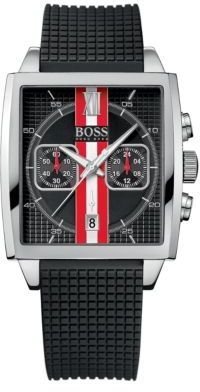 HUGO BOSS Men's Stainless Steel Racing Stripe Chronograph Watch