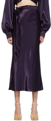 Collina Strada SSENSE Exclusive Purple Ribbon Yod Skirt