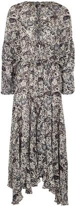 Etoile Isabel Marant Laureli printed georgette midi dress