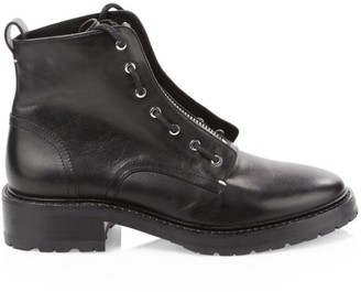 Rag & Bone Cannon Zip-Up Leather Combat Boots