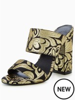 Very Icon Tapestry Two Strap Mule Black/gold