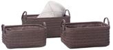 Torre & Tagus Ribeira Rectangular Storage Baskets (Set of 3)