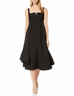 C/Meo Women's Statement Sleeveless High Low Fit & Flare Party Dress