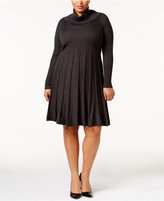 Calvin Klein Plus Size Pleated Sweater Dress
