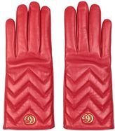 Gucci Marmont Leather Gloves