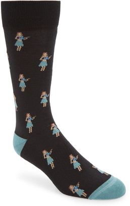 Nordstrom Cushion Foot Hula Girl Socks