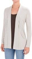 Lilla P Slub Open Cardigan Jacket - Pima Cotton-Modal (For Women)
