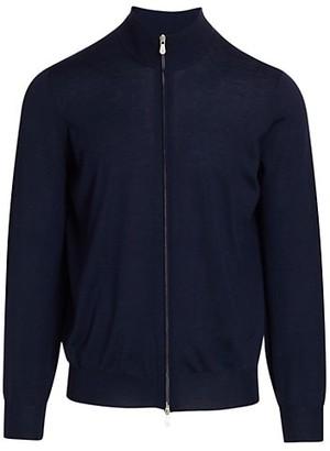 Brunello Cucinelli Tipping Full-Zip Sweater