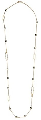 Alexis Bittar Crystal Encrusted Link Necklace (Crystal/Pyrite) Necklace