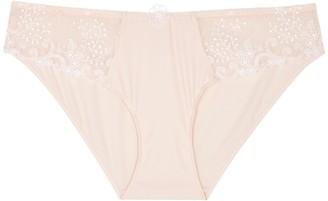 Simone Perele Delice Blush Lace-panelled Briefs