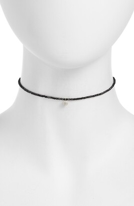 Meira T Diamond Charm Choker Necklace