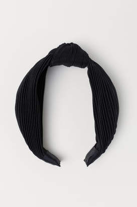 H&M Hairband with Knot Detail - Black