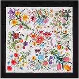 Gucci Flora silk printed foulard