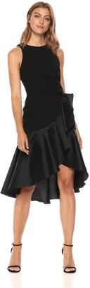 Carmen Marc Valvo Women's Jewel Neck Cocktail Dress