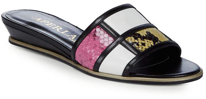 Aperlaï Colorblocker Leather Slides