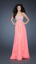 La Femme Stunning Gown with Sparkling Bodice 18803