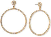 Carolee Gold-Tone Pavé Gypsy Hoop Earrings