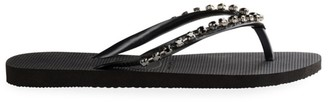 Havaianas Slim Rock Mesh Crystal-Embellished Flip Flops