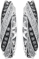 AX Jewelry Silvermist Diamonds Sterling Silver Drop Shaped Earrings 3/4 CTW