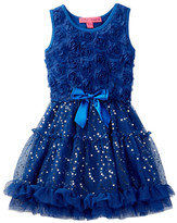 Betsey Johnson Rosette Bodice & Tutu Bottom Dress (Little Girls)