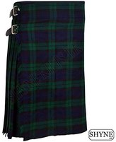 SHYNE_ENTERPRISES Black Watch Men's 5 Yard Scottish Kilts Tartan Kilt 13oz Highland Casual Kilt