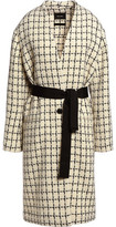 Isabel Marant Magali Belted Checked Wool-Blend Coat