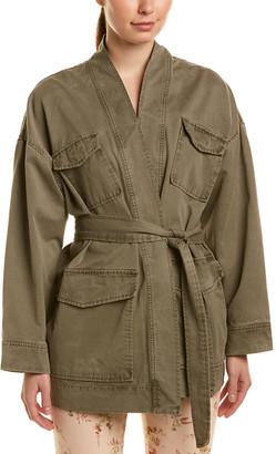 La Vie Rebecca Taylor Belted Twill Jacket