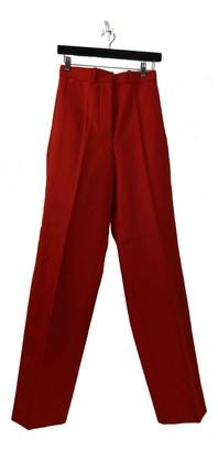Celine Red Wool Trousers