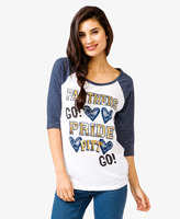 Forever 21 FOREVER 21+ University of Pittsburgh Panthers® Baseball Tee