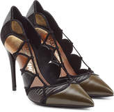 Salvatore Ferragamo Leather Pumps with Cut-Out Detail