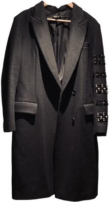 DKNY Black Wool Coat for Women