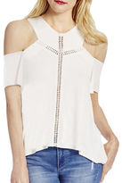 Jessica Simpson Solid Cold Shoulder Top