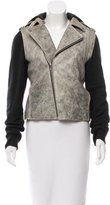 Alexander Wang Leather-Accented Moto Jacket
