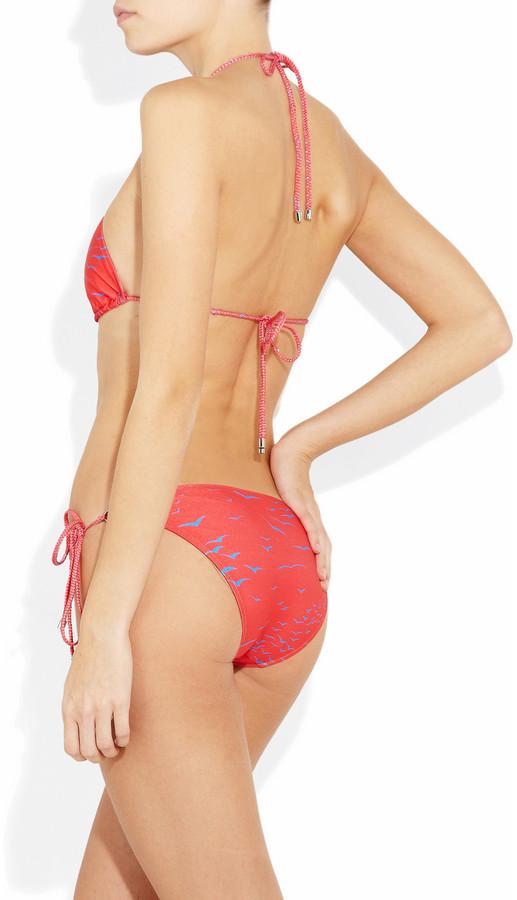 Shimmi Birkin printed triangle bikini