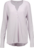 Splendid Henley supima cotton and modal-blend top