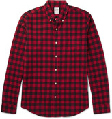 J.crew - Slim-fit Button-down Collar Checked Cotton Shirt