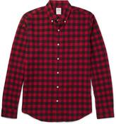 J.Crew Slim-Fit Button-Down Collar Checked Cotton Shirt